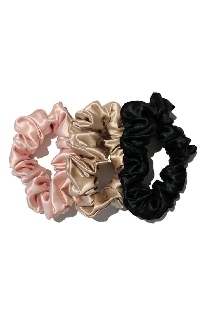<p>They won't have to worry about ponytail bumps anymore when they have the <span>Slipsilk Hair Ties</span> ($39) to pull their hair back.</p>