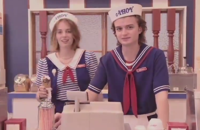 A new 'Stranger Things' promo teases a new location — and a new job for Steve — in the show's third season. (Photo: Netflix)