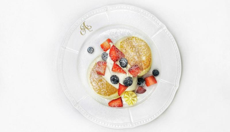 Berries and cream souffle pancakes. Photo: Antoinette