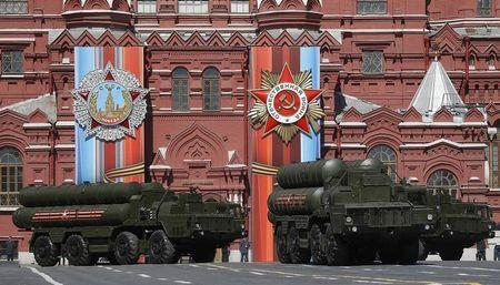 Russian army rehearse before the World War II anniversary in Moscow