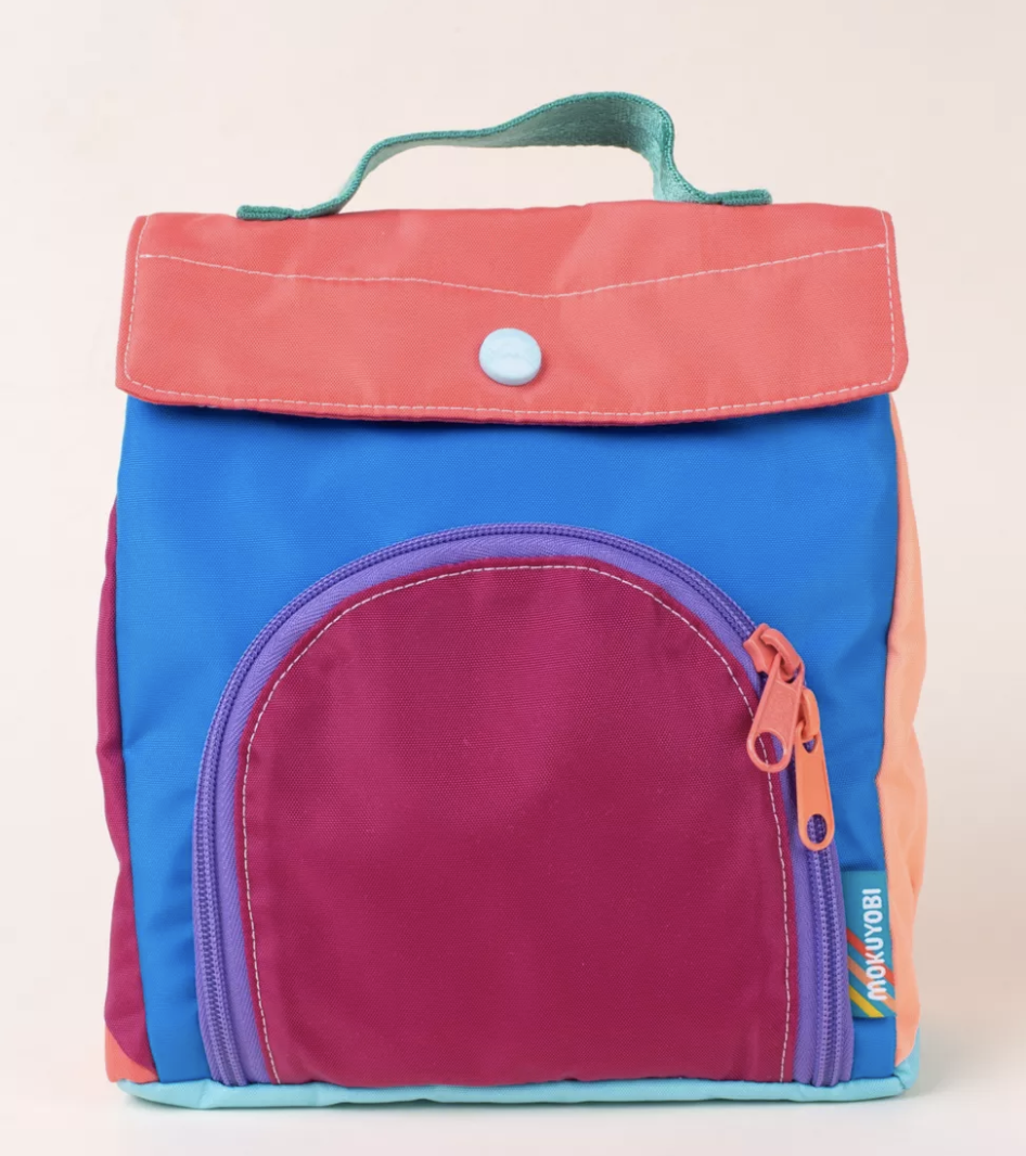 """The most reminiscent of a grown up kids lunch box, this retro-inspired nylon tote is easy-to-clean and has a convenient front pocket with a zipper. It can hold up to 10 pounds of cold food. $62, Urban Outfitters. <a href=""""https://www.urbanoutfitters.com/shop/mokuyobi-lunch-bag?color=036&type=REGULAR&size=ONE%20SIZE&quantity=1"""" rel=""""nofollow noopener"""" target=""""_blank"""" data-ylk=""""slk:Get it now!"""" class=""""link rapid-noclick-resp"""">Get it now!</a>"""