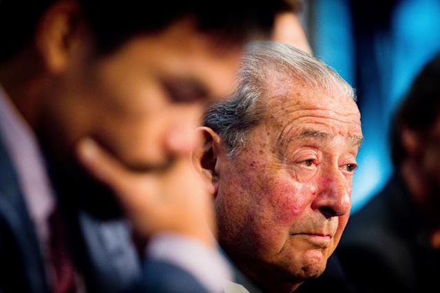 Top Rank founder and CEO Bob Arum has promoted 2,047 fight cards in 216 American cities in his 52 years in boxing. (Patrick Hamilton/AFP/Getty Images)