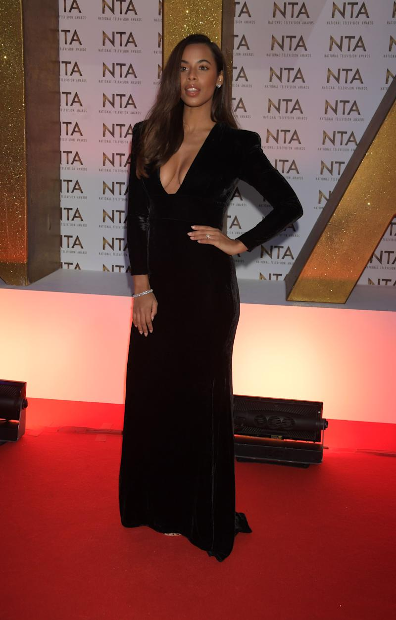 LONDON, ENGLAND - JANUARY 28: Rochelle Humes attends the National Television Awards 2020 at The O2 Arena on January 28, 2020 in London, England. (Photo by David M. Benett/Dave Benett/Getty Images)