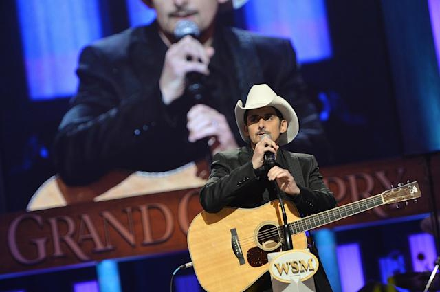 NASHVILLE, TN - MAY 02: (EXCLUSIVE COVERAGE) Country musician Brad Paisley performs at the funeral service for George Jones at The Grand Ole Opry on May 2, 2013 in Nashville, Tennessee. Jones passed away on April 26, 2013 at the age of 81. (Photo by Rick Diamond/Getty Images for GJ Memorial)