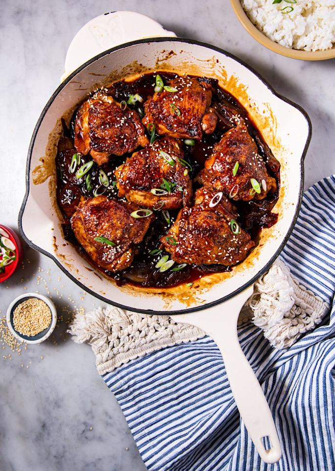 """<p>These look amazing and taste even better.</p><p>Get the recipe from <a href=""""https://www.delish.com/cooking/recipe-ideas/a30503020/braised-chicken-thighs-recipe/"""" target=""""_blank"""">Delish. </a></p>"""