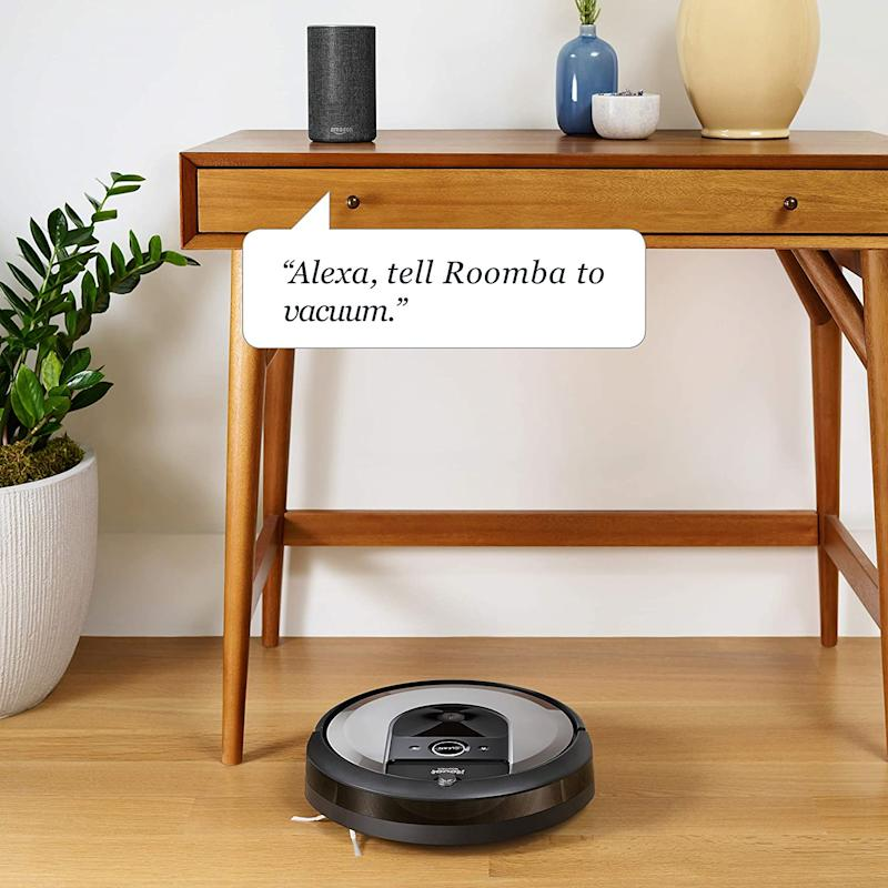 The Roomba robot vacuums will seamlessly navigate room to room to clean an entire level of your home. (Image via Amazon)
