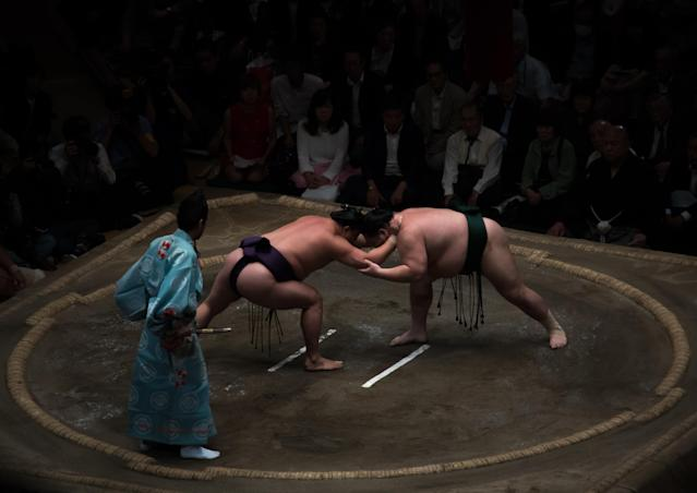 The Japanese Sumo Association announced its first COVID-19 death on Wednesday. (Photo by Eric Lafforgue/Art in All of Us/Corbis via Getty Images)