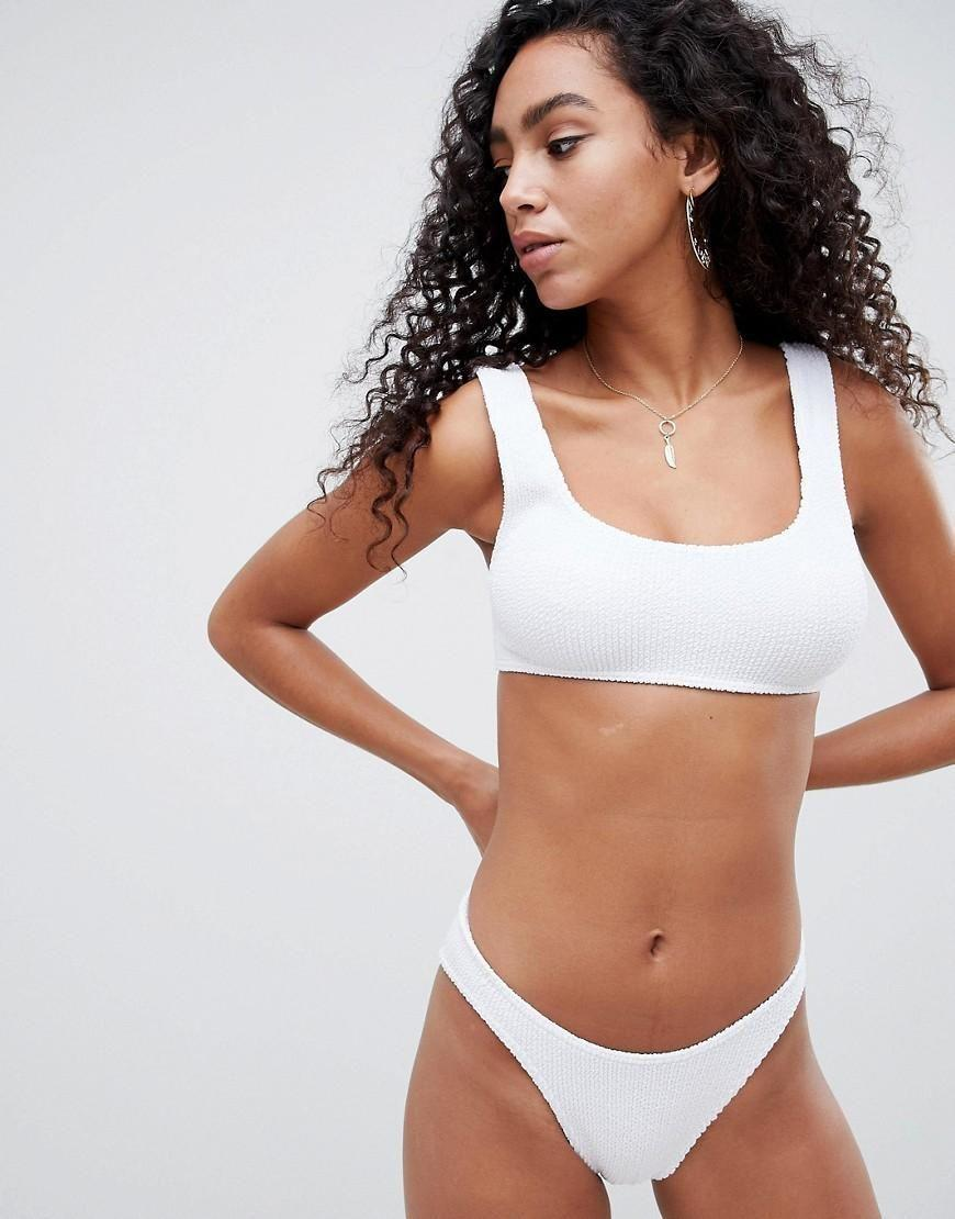 A white bikini suddenly becomes practical when the price is this good. Available in one size.