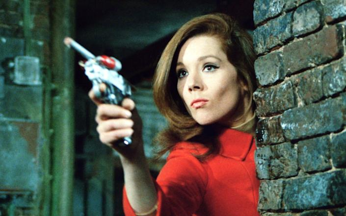 Emma Peel: the internationally educated daughter of a wealthy shipowner and youthful widow of a famous test pilot - www.bridgemanimages.com