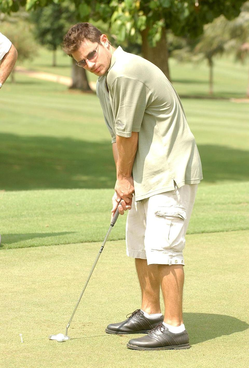 <p>Nick Lachey golfing while on vacation in Ocho Rios, Jamaica.</p><p>Other celebrity visitors this year: Gabrielle Union, Jessica Simpson, Melanie Griffith, Lance Bass.<br></p>