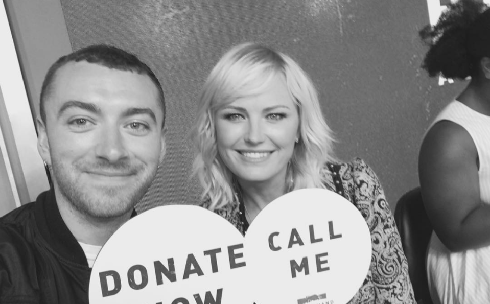 Sam Smith took part in the hurricane relief telethon in the US (Instagram)