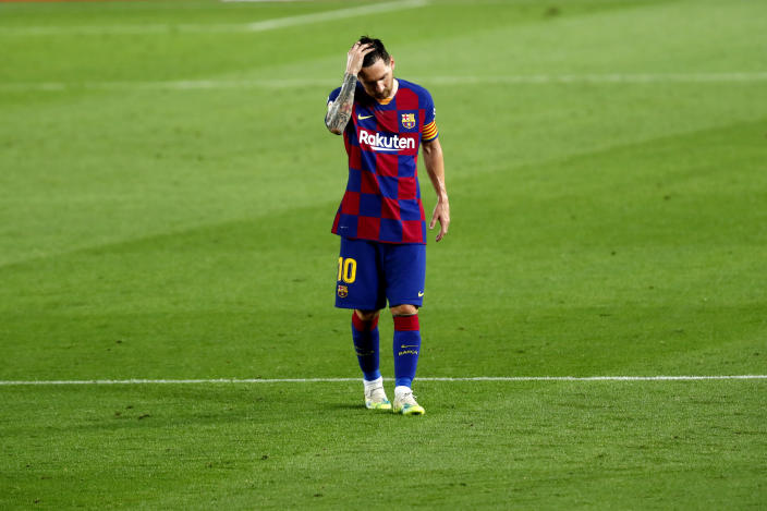 Without Lionel Messi (pictured) and Marc-André ter Stegen, Barcelona might not have even finished top four this season in La Liga. (AP Photo/Joan Monfort)