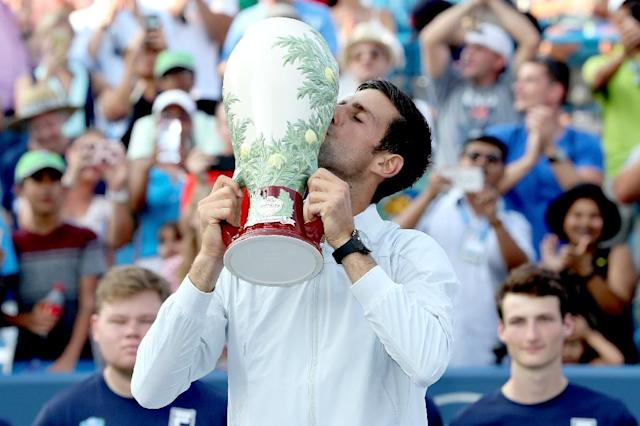Novak Djokovic became the first man to win all nine of the ATP's Masters 1000 events in the elite series' current configuration (AFP Photo/MATTHEW STOCKMAN)