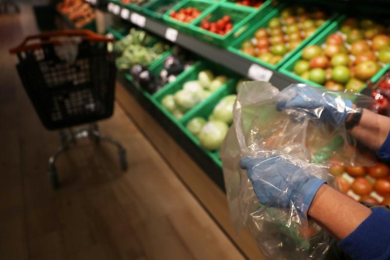 Euro zone retail sales in record slide in April as even food down
