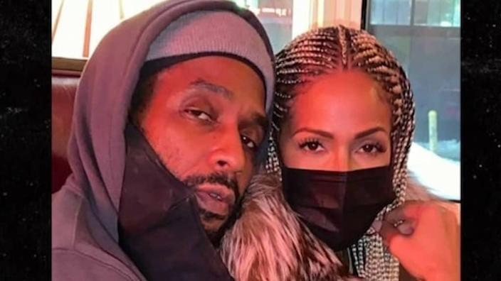 """Former """"Real Housewives of Atlanta"""" cast member Sheree Whitfield (right) has reportedly reunited with her boyfriend, Tyrone Gilliams (left), who was released from prison early due to the COVID-19 pandemic. (TMZ)"""