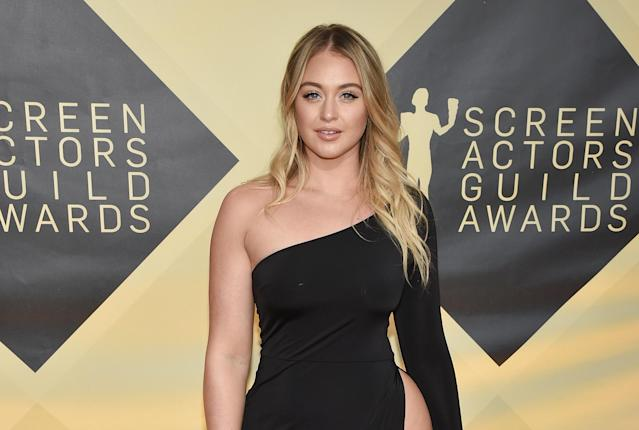 Iskra Lawrence at the Screen Actors Guild Awards in L.A. earlier this year. (Photo: Getty)