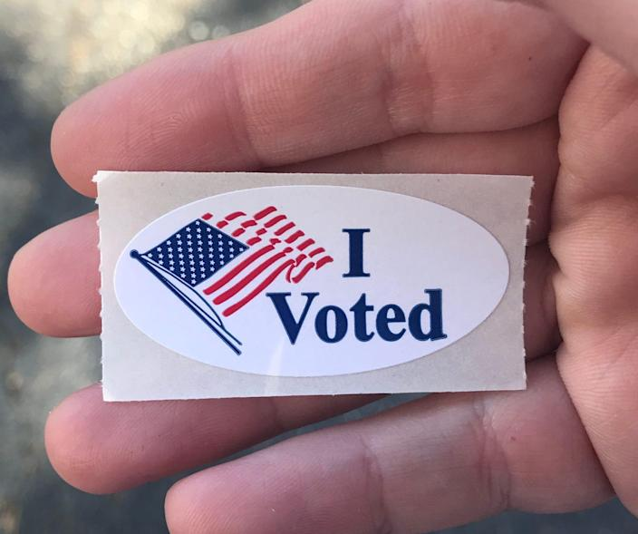 """An """"I Voted"""" sticker can mean freebies."""