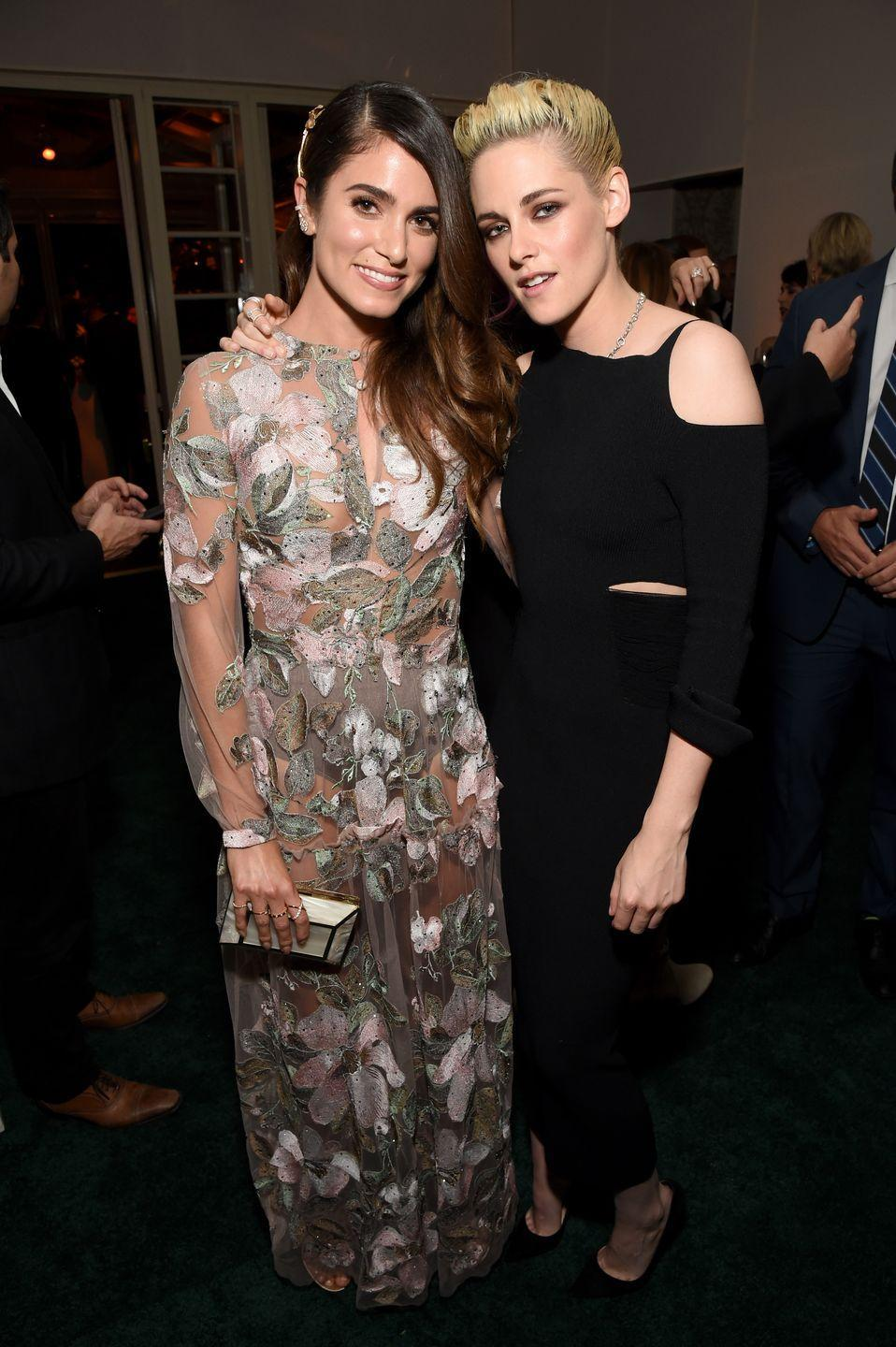 """<p>The actresses <a href=""""https://www.popsugar.com/celebrity/photo-gallery/43552517/image/43569436/Nikki-Reed-Kristen-Stewart"""" rel=""""nofollow noopener"""" target=""""_blank"""" data-ylk=""""slk:lived together in Vancouver"""" class=""""link rapid-noclick-resp"""">lived together in Vancouver</a> while filming the second installment of the popular saga, <em>Twilight: New Moon</em>. Stewart and Reed didn't go out much, but said their co-star Peter Facinelli would make them pasta dinners.</p>"""