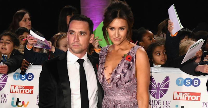 Catherine Tyldesley has banned husband Tom Pitford from dancing (Photo:Jeff Spicer/Getty Images)