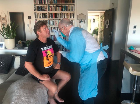 Richard Wilkins is given coronavirus test five days after testing positive.