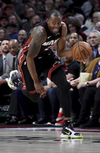 Blazers beat Heat 115-109 in Iguodala's debut for Miami