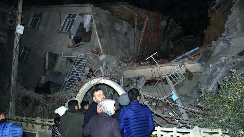 A 6.8 magnitude earthquake struck Elazig city in eastern Turkey causing buildings to collapse
