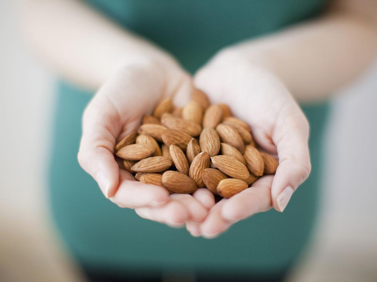 "<p>Rich in healthy fats, fiber, and protein, these nuts are made for more than snacking. Use slivered almonds as a topping for oatmeal or yogurt, add them to muffin recipes, or use <a rel=""nofollow"" href=""https://www.prevention.com/food-nutrition/healthy-eating/a20457989/homemade-almond-flour/"">almond flour</a> in place of regular flour in pancakes.</p>"