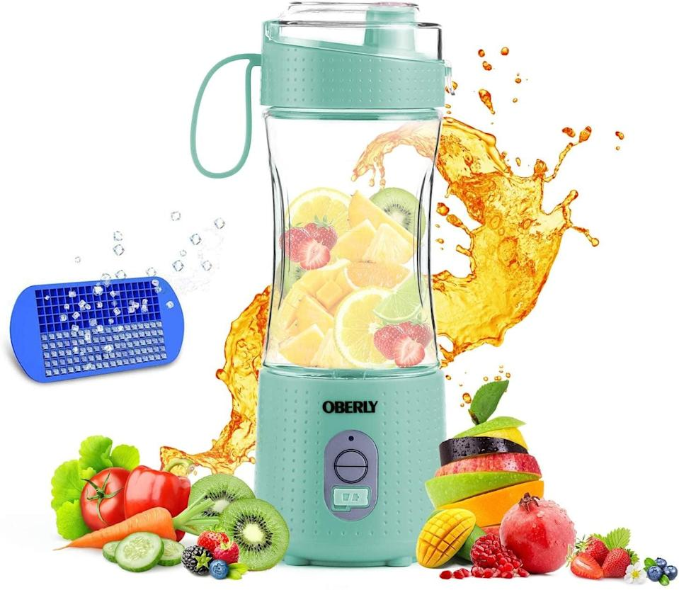<p>Create yummy and refreshing smoothies on the go with this <span>OBERLY Oberly Portable Blender with Rechargeable Batteries</span> ($17, originally $24). It comes with an ice tray and a detachable cup!</p>