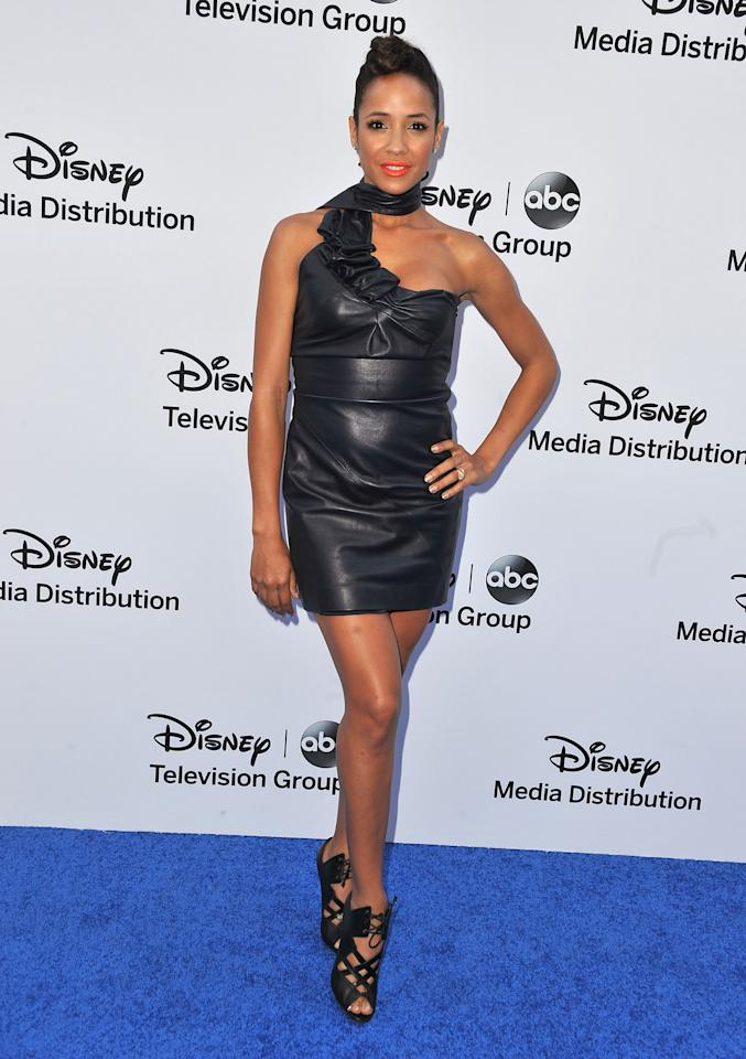 BURBANK, CA - MAY 19:  Actress Dania Ramirez arrives at the Disney Media Networks International Upfronts at Walt Disney Studios on May 19, 2013 in Burbank, California.  (Photo by Angela Weiss/Getty Images)