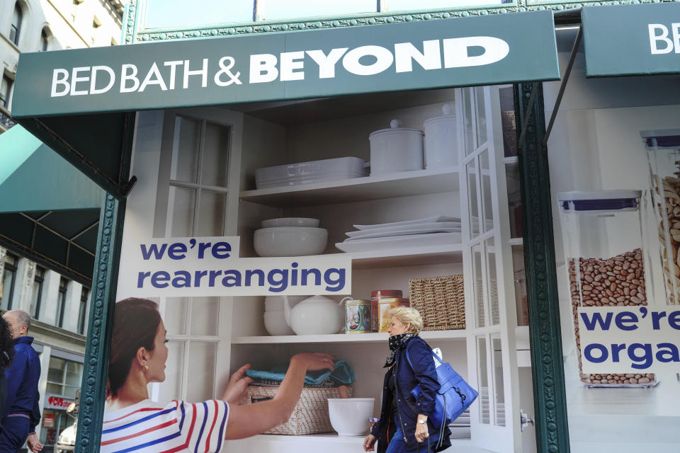 Photo by: John Nacion/STAR MAX/IPx 2020 9/22/20 A view of Bed Bath & Beyond Branch in New York City on September 22, 2020. Bed Bath & Beyond announced plans to permanently close about 200 stores over the next two years. This announcement appears to be the first iteration of that plan, report says.