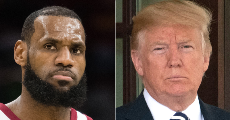 Melania Trump contradicts her husband on LeBron James