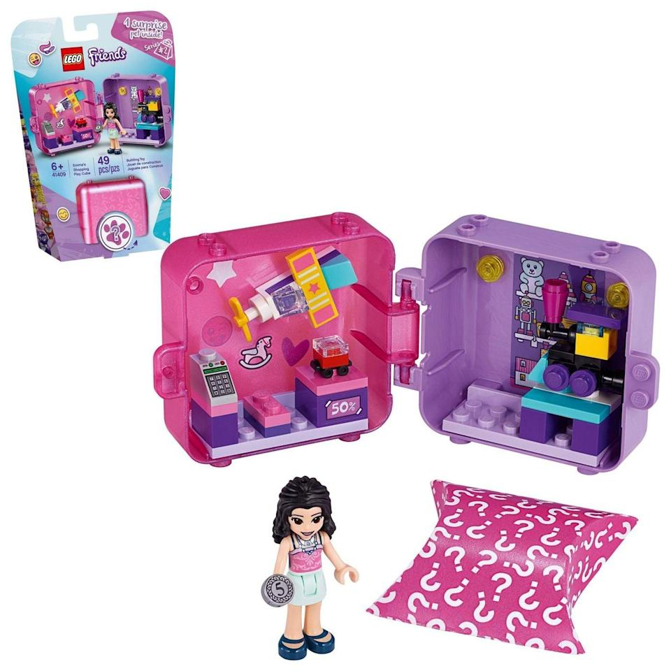 <p>These <span>Lego Friends Play Cubes</span> ($10) come in a number of varieties and are great for on-the-go play. The more you have, the more that click together. They're available in April.</p>