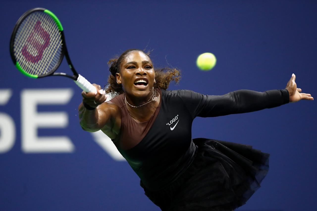 <p>Serena Williams atropelou a polonesa Magda Linette (Foto: Getty Images) </p>