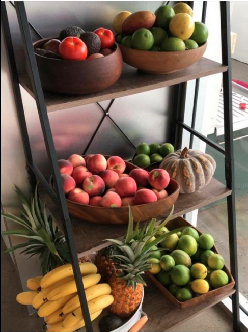 Check out this awesome ladder fruit stand. Photo: Facebook/Kmart Mums Australia