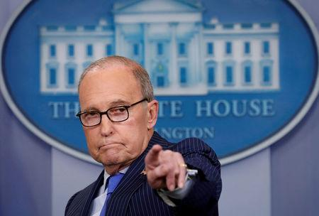 FILE PHOTO: Kudlow gives a press briefing at the White House in Washington