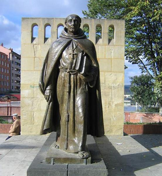The man who prosecuted Calderon was Fray Juan de Zumarraga (his statue is shown here), the archbishop of Mexico and Apostolic Inquisitor of New Spain. For reasons unknown he gave Calderon a light sentence, prohibiting him from saying mass for t