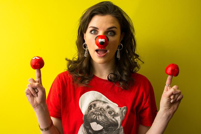 Smile: Aisling Bea with her red noses: Alex Lentati