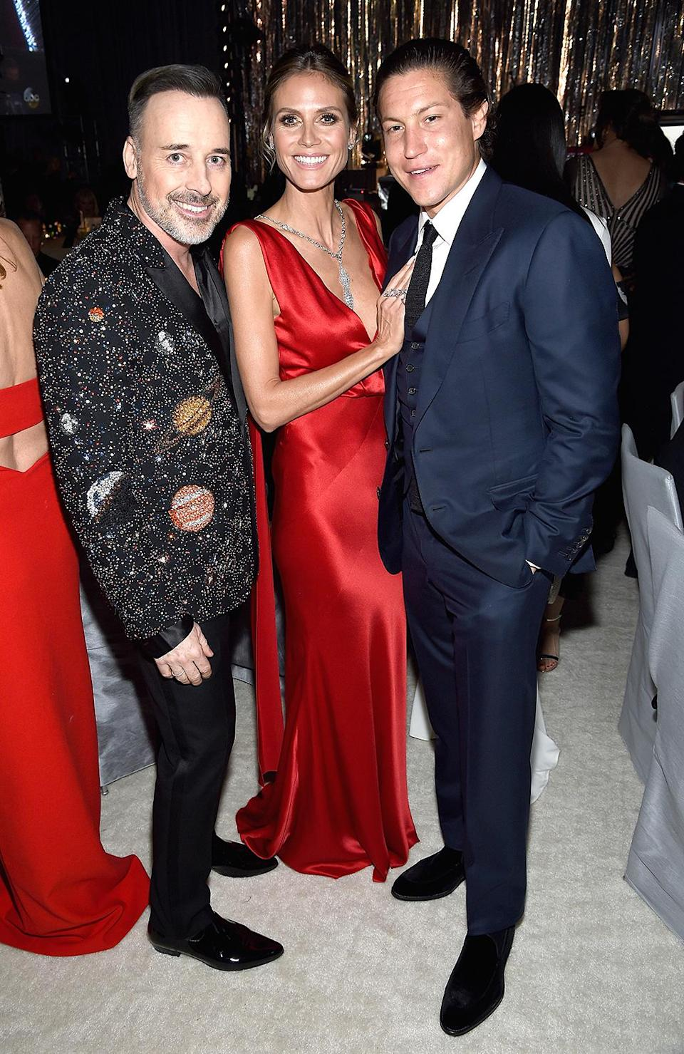 <p>David Furnish and Heidi Klum attends the 25th Annual Elton John AIDS Foundation's Academy Awards Viewing Party at The City of West Hollywood Park on February 26, 2017 in West Hollywood, California. (Photo by Dimitrios Kambouris/Getty Images for EJAF) </p>