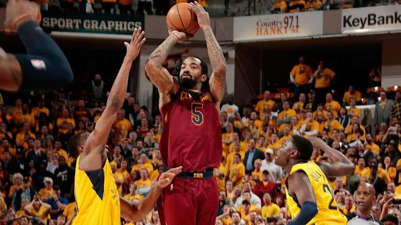 JR Smith gets it away on the buzzer. Pic: Getty