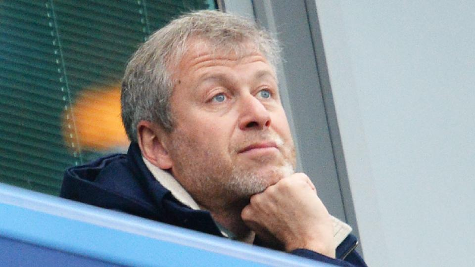 Chelsea owner Roman Abramovich is pictured here looking glum during a match.