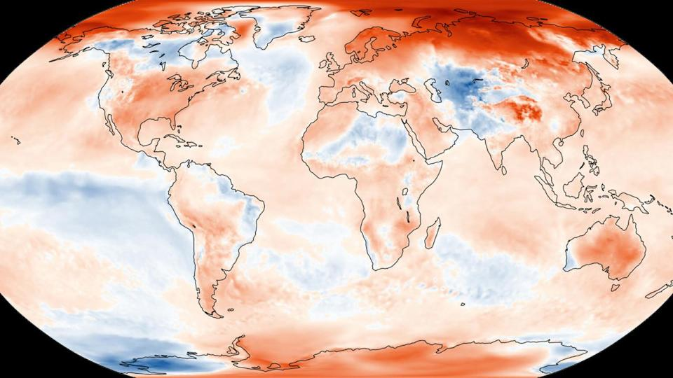 Approaching year's end, 2020 is now neck-and-neck with 2016 for hottest year
