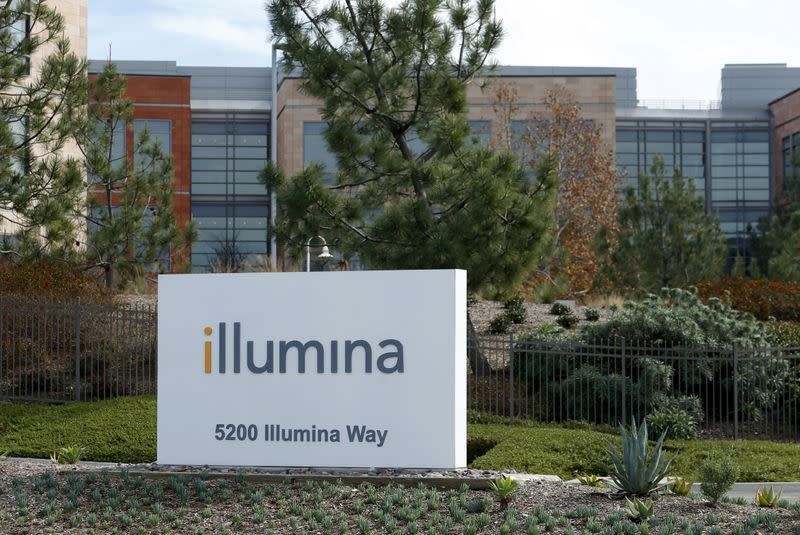 FILE PHOTO: The offices of gene sequencing company Illumina Inc are shown in San Diego, California