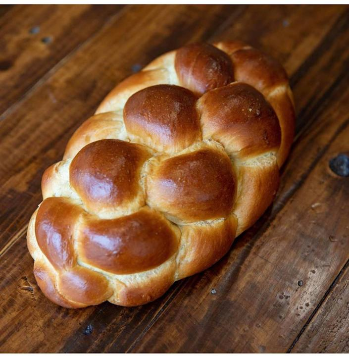 A fresh Challah loaf at Madruga Bakery in Coral Gables.