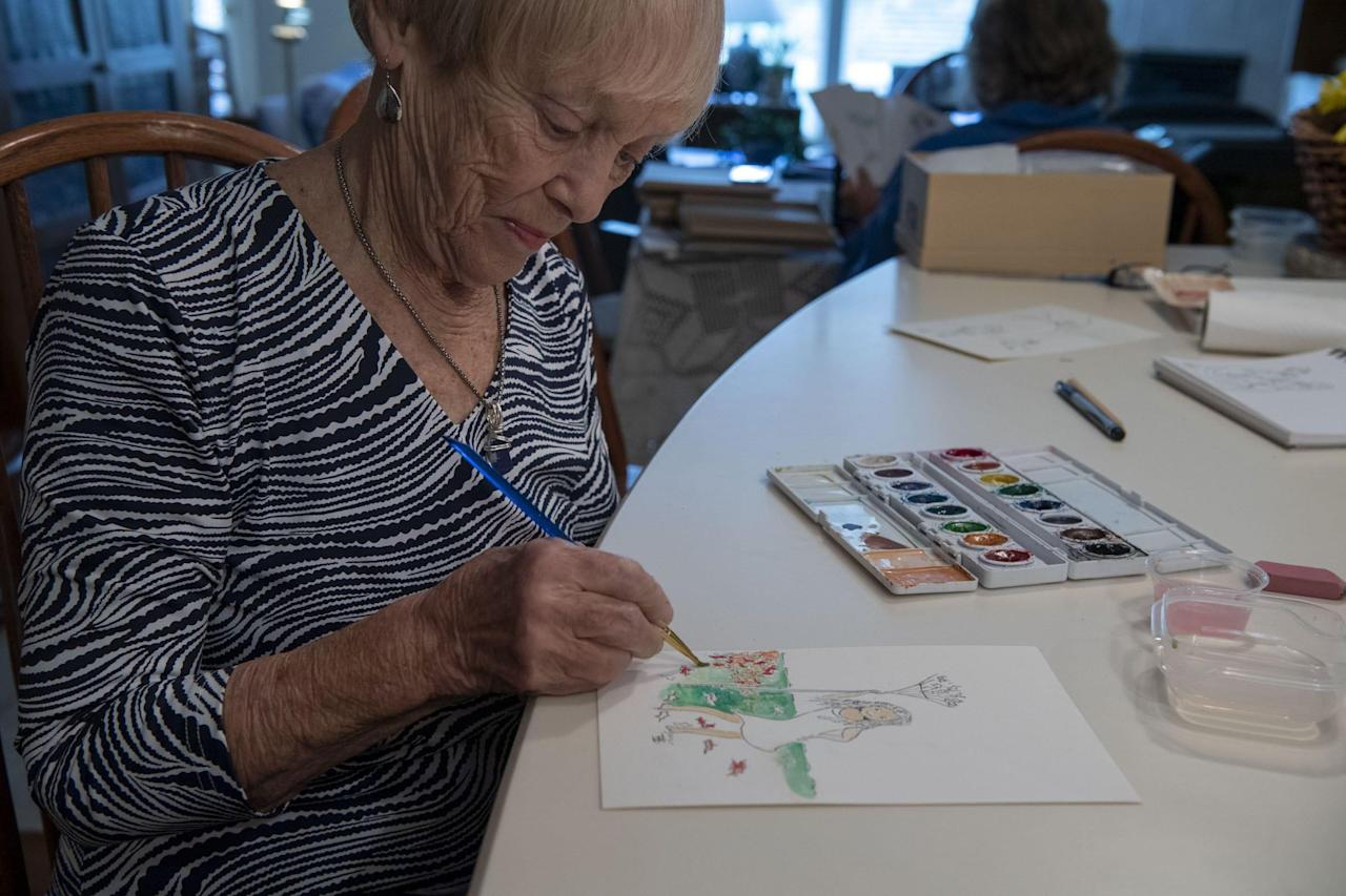 'She saved others in the pandemic': 91-year-old coronavirus survivor paints a watercolor a day