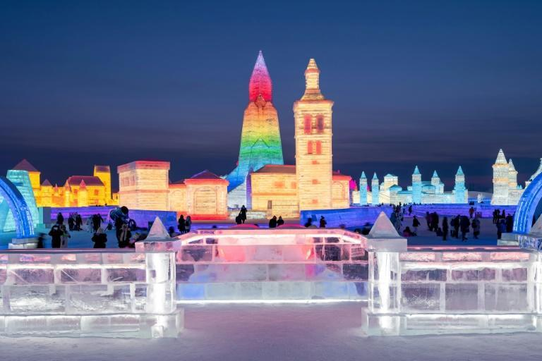 Preparations for the annual winter celebration begin weeks in advance, with workers mining millions of cubic feet of ice from the surface of the Songhua river