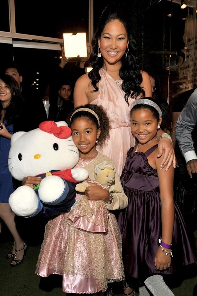 """Kimora'a two daughters, Aoki Lee and Ming Lee, got all dolled up for the event. Lester Cohen/<a href=""""http://www.gettyimages.com/"""" target=""""new"""">GettyImages.com</a> - October 22, 2009"""