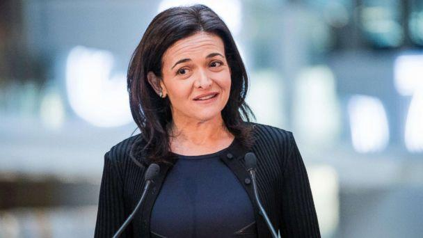 PHOTO: Sheryl Sandberg, chief operating officer of Facebook Inc., speaks during a news conference at Station F, a mega-campus for startups located inside a former freight railway depot, in Paris, Jan. 17, 2017. (Christophe Morin/Bloomberg via Getty Images)