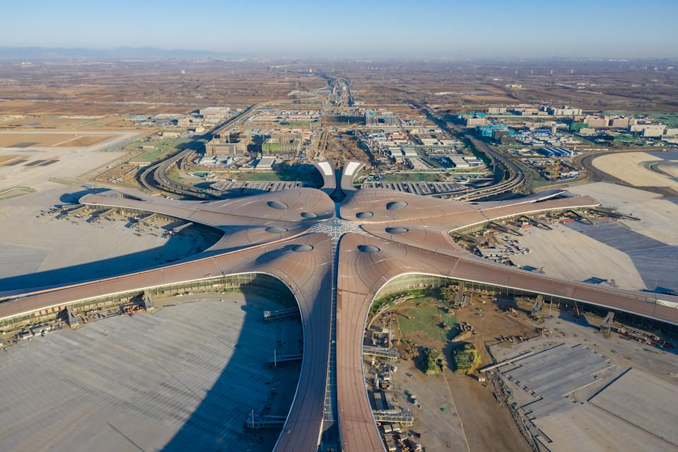 Beijing Daxing International Airport is built to provide transportation convenience for the integrated development of Beijing, Tianjin and Hebei province. (Photo by Mo Jiaxun/Visual China Group via Getty Images)