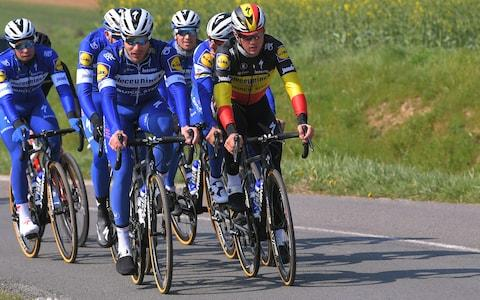 <span>Deceuninck-Quick Step started with five potential winners – Kasper Asgreen, Philippe Gilbert, Yves Lampaert, Florian Sénéchal and Zdenek Stybar – at Paris-Roubaix on Sunday</span> <span>Credit: Getty Images </span>