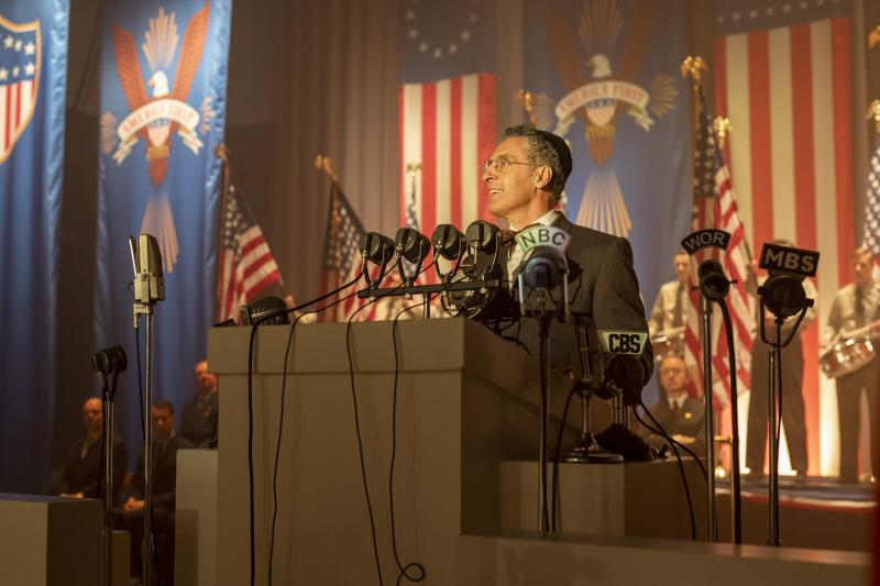 """This image released by HBO shows John Turturro in a scene from """"The Plot Against America."""" The 6-part mini-series, based on the novel by the late Philip Roth, premieres Monday, March 16. (Michele K. Short/HBO via AP)"""